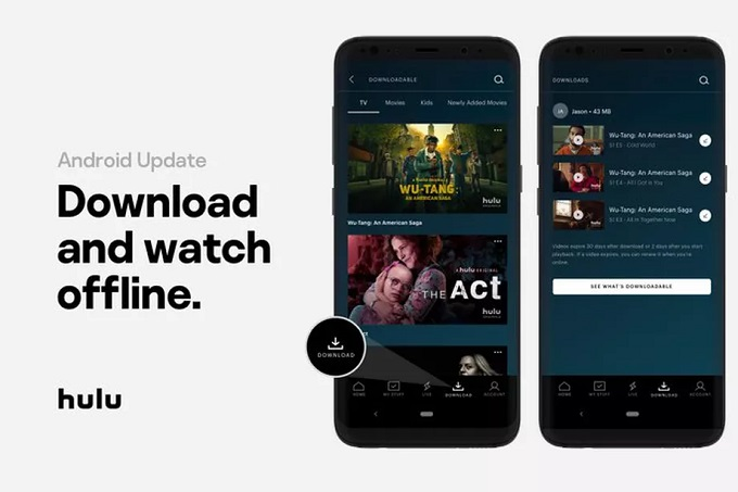 Новое обновление Hulu позволит пользователям Android скачивать видео для автономного просмотра