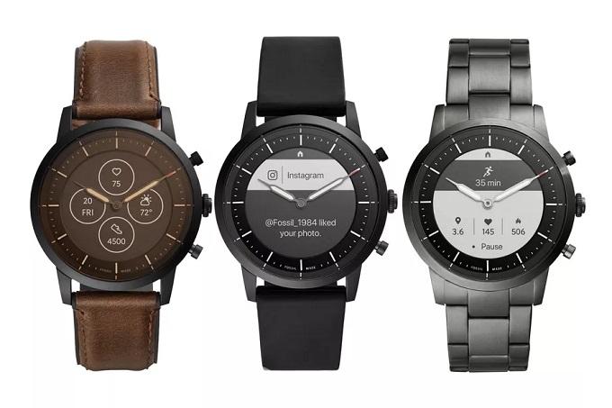 Новые гибридные умные часы Fossil сочетают физические стрелки часов и постоянно включенный дисплей