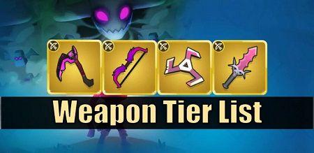 Полный список уровней оружия в Archero