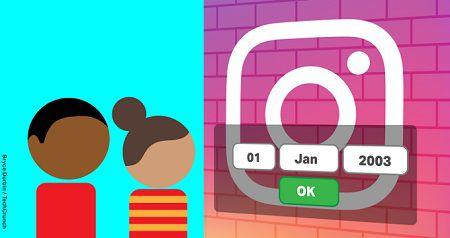 Если вам меньше 13 лет, вы больше не сможете зарегистрироваться в Instagram
