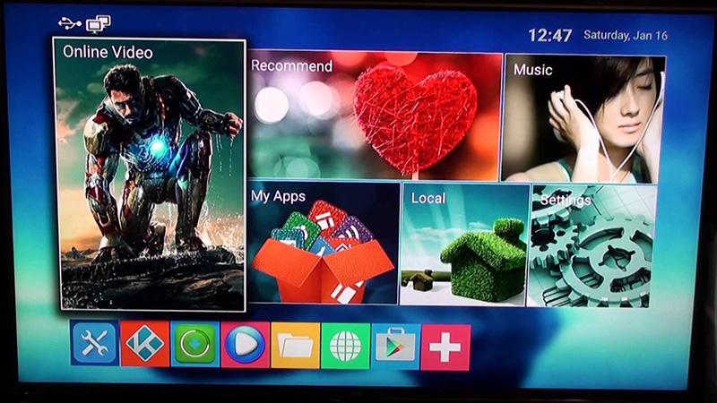 Начальный экран Android TV-Box